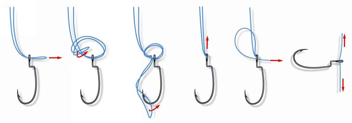 Как привязать крючок для ловли на дроп-шот